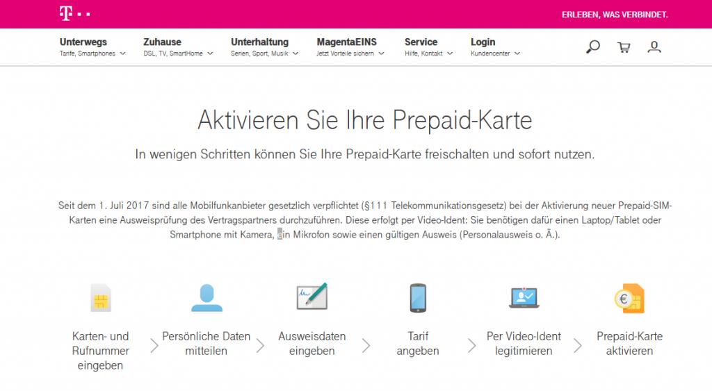 Telekom Prepaid Aktivierung & Registrierung – so einfach geht's
