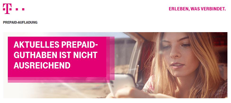 Telekom Prepaid Karte aufladen & abfragen