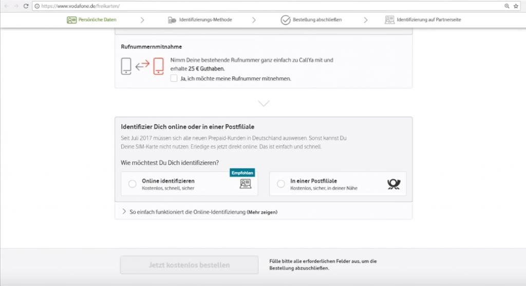 Sim Karte Aktivieren Vodafone.Vodafone Callya Registrierung Infos Zur Callya Identifizierung