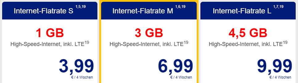 ALDI TALK Internet-Flatrates
