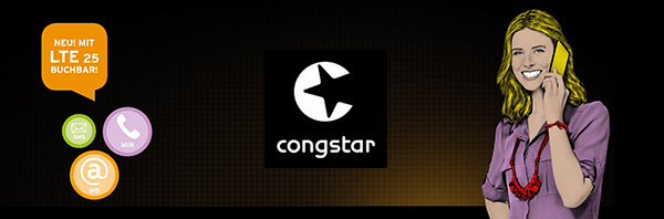 Congstar Prepaid LTE 25 Option buchbar