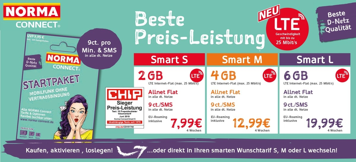 Norma Connect Smart Tarife jetzt mit LTE