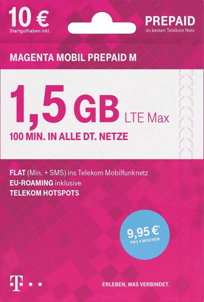 Telekom MagentMobil Prepaid M ohne Vertragsbindung