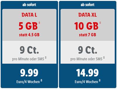 LIDL Connect Data XL - 10 GB Datentarif für 14,99 Euro mtl.