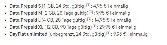 Telekom Data Prepaid XL - 12 GB Daten für 29,99 Euro (90 Tage)