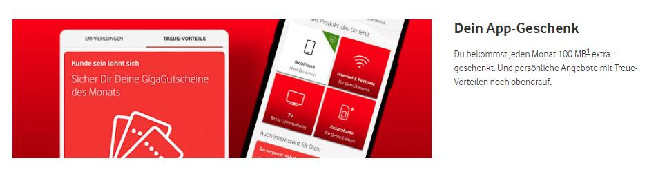 Vodafone CallYa - 100 MB Datenvolumen gratis für App-Nutzer